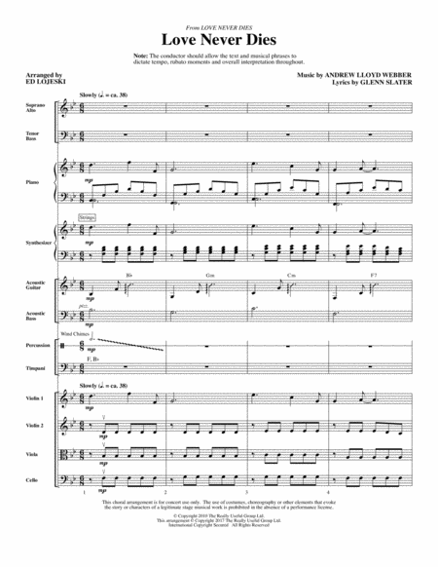 Love Never Dies - Full Score