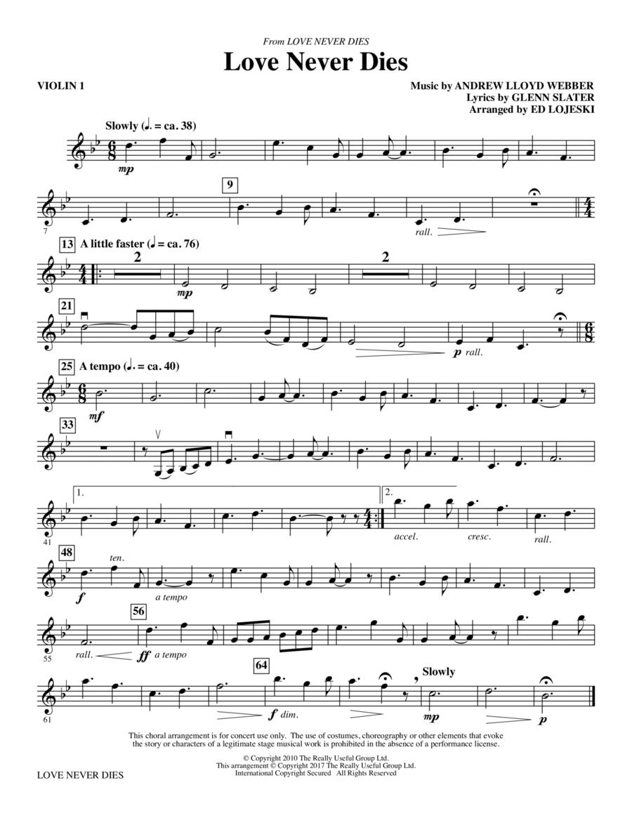 Love Never Dies - Violin 1