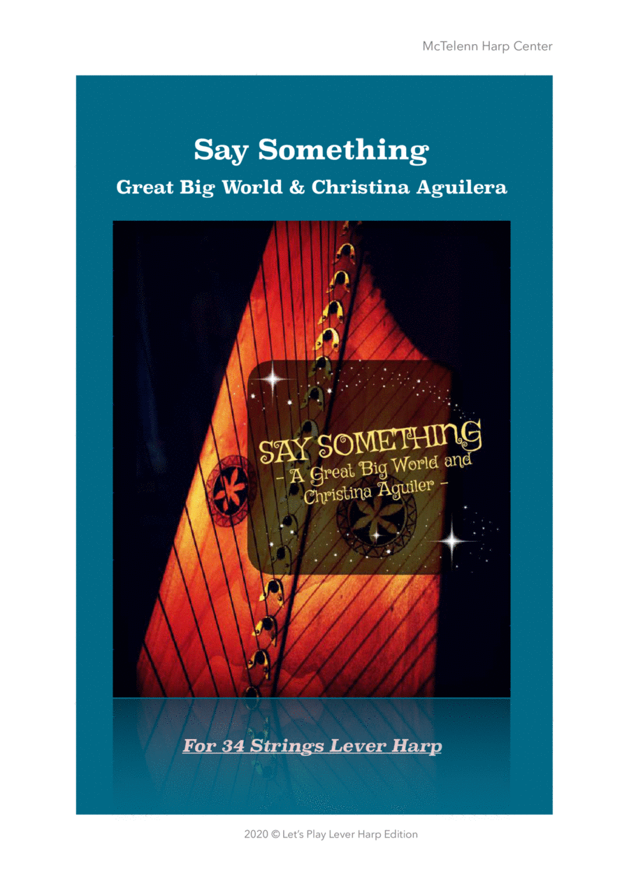 SAY SOMETHING - For Lever Harp - By Eve McTelenn -