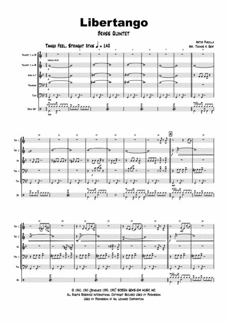 Libertango - Astor Piazolla - Tango Nuevo - Brass Quintet w. drums