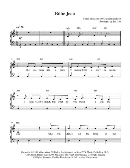Billie Jean (Beginner Edition)