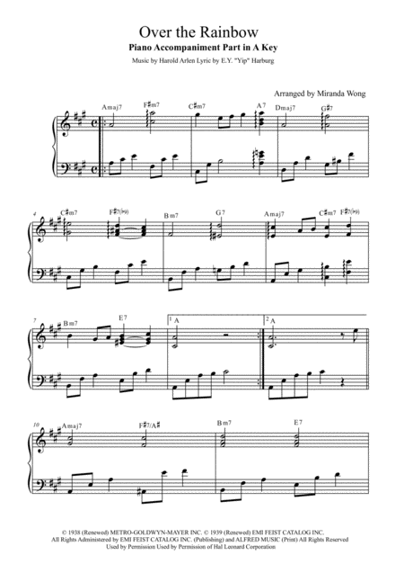 Over The Rainbow (from The Wizard Of Oz) - 2 Violins and Piano Accompaniment
