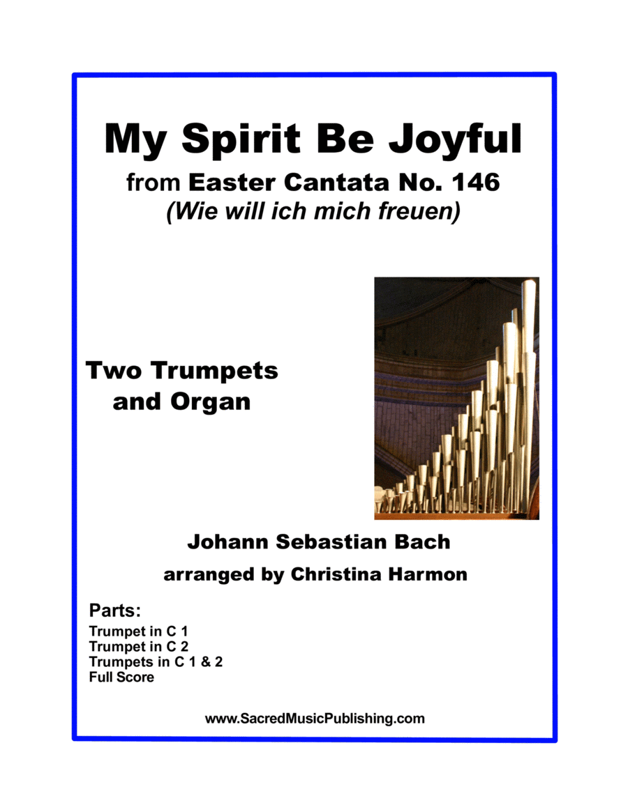 My Spirit Be Joyful -  Two Trumpets and Organ
