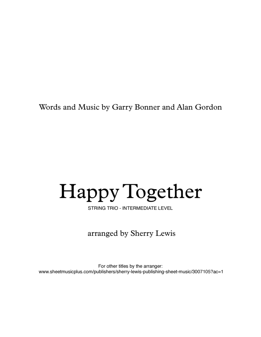 Happy Together for STRING TRIO