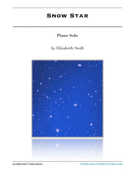 Snow Star elementary piano solo
