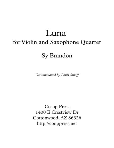 Luna for Violin and Saxophone Quartet