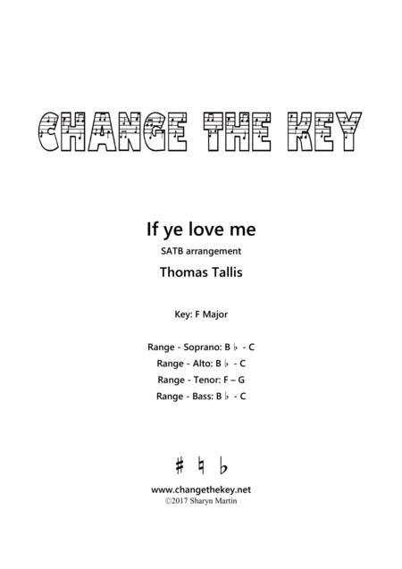 If ye love me - F Major