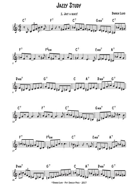 Just a blues - Bb blues (concert) Jazz study