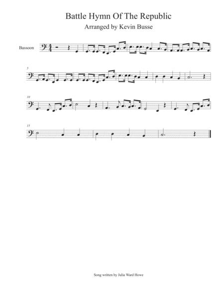 Battle Hymn Of The Republic - Bassoon