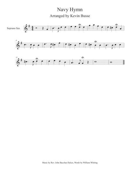 Navy Hymn - Soprano Sax