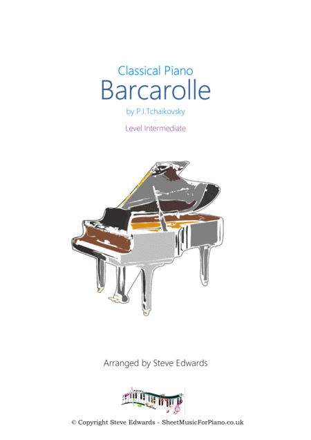 Barcarolle (June) for Solo Piano - Made Easier