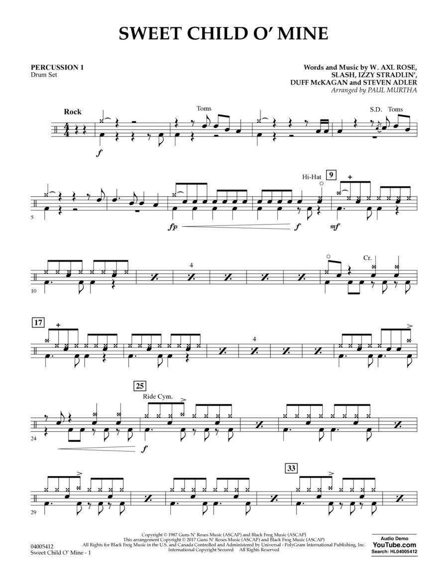 Sweet Child o' Mine - Percussion 1