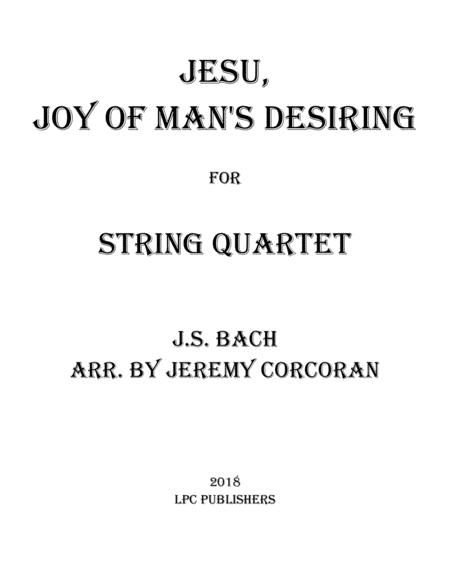 Jesu, Joy of Man's Desiring for String Quartet