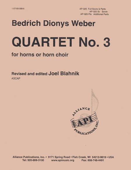 Quartet No. 3 - Fr Hn Qt