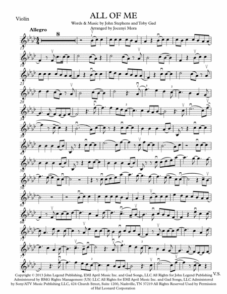 All Of Me - Violin Solo