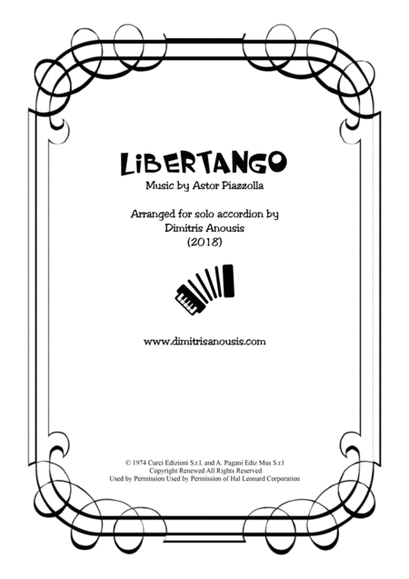 Libertango for solo accordion