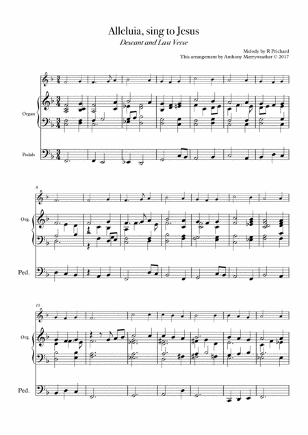Alleluia, sing to Jesus - Descant and Last Verse