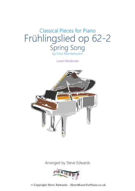 Frühlingslied Spring Song Op62-2 from Songs Without Words - Made Easier