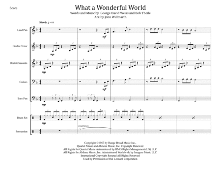 What A Wonderful World for Steel Band