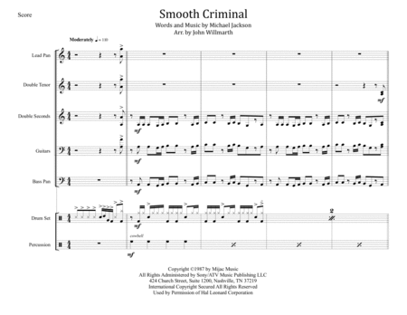 Smooth Criminal for Steel Band