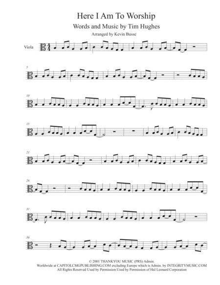 Here I Am To Worship - Viola