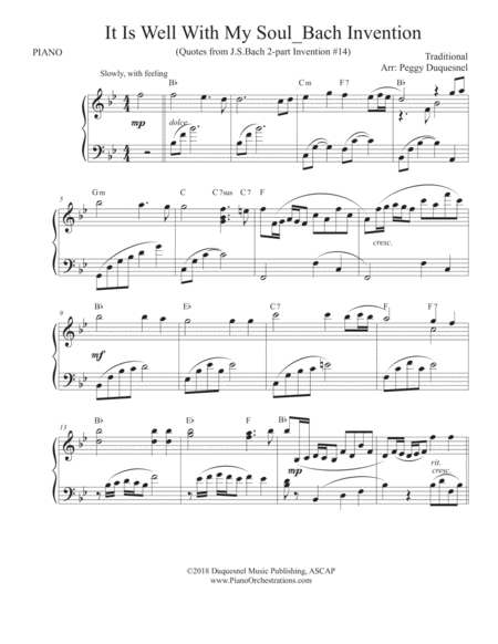 It is Well With My Soul / Bach Invention