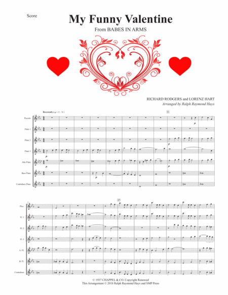 My Funny Valentine (for flute choir)