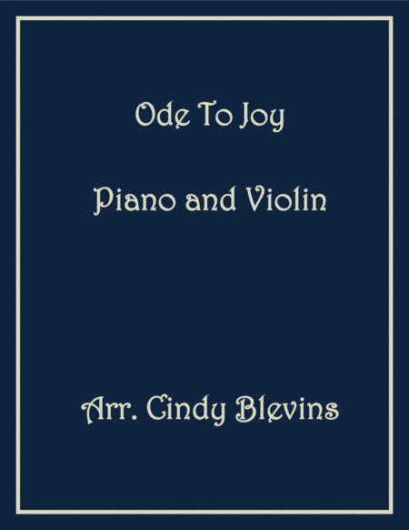 Ode to Joy, arranged for Piano and Violin