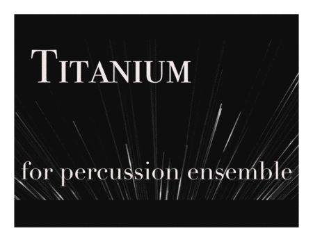 Titanium (David Guetta) for Percussion Ensemble
