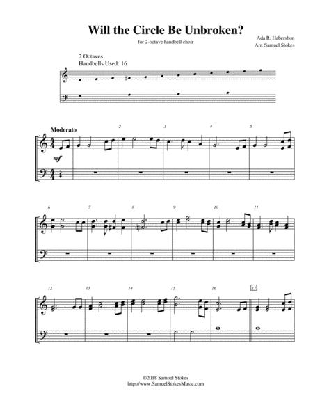 Will the Circle Be Unbroken? - for 2-octave handbell choir