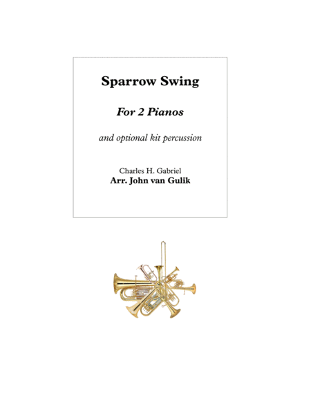 Sparrow Swing - 2 Pianos plus optional percussion