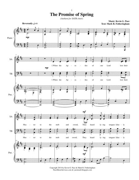 The Promise of Spring - SATB Choir with piano accompaniment