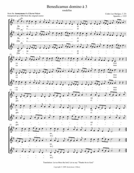 Benedicamus Domino (rondellus a 3) from the Anonymous 4 album