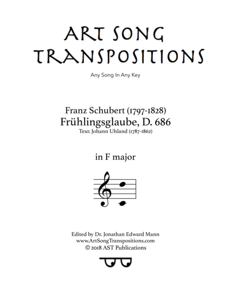 Frühlingsglaube, D. 686 (F major)