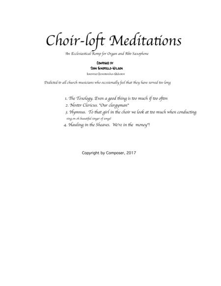 Choir-loft Meditations a romp for organ and alto sax  TITLE PAGE