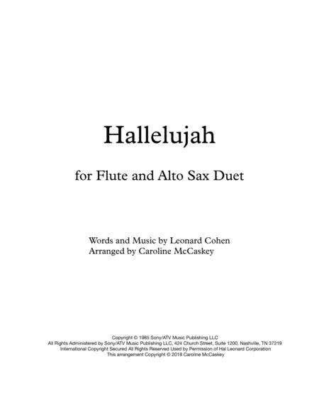 Hallelujah - Flute and Alto Sax Duet