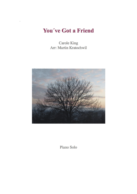 You've Got A Friend _ Piano Solo