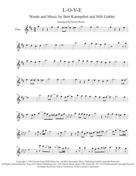 L-O-V-E - Flute (Trumpet Solo Included)