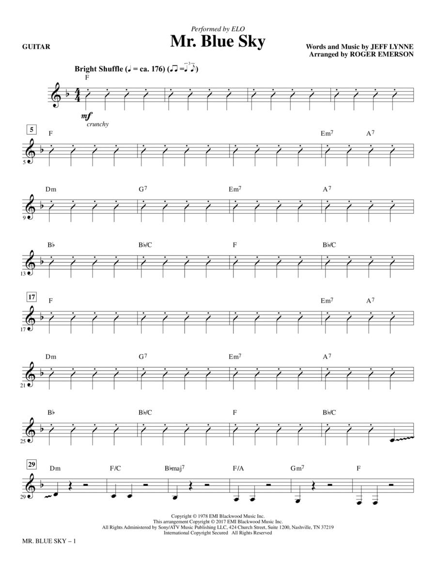 Mr. Blue Sky - Guitar