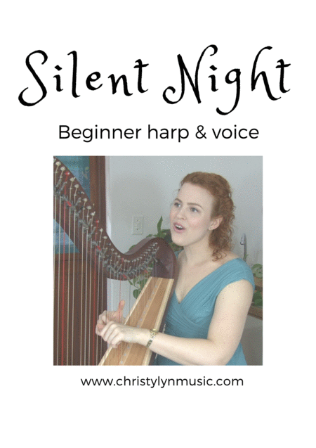 Silent Night (easy harp, voice)
