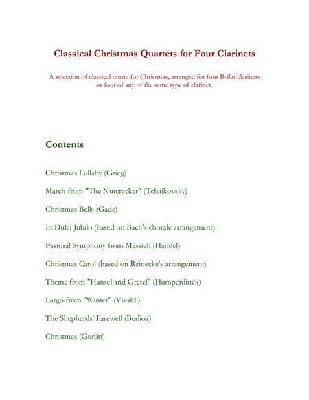 Classical Christmas Quartets (4 Clarinets)