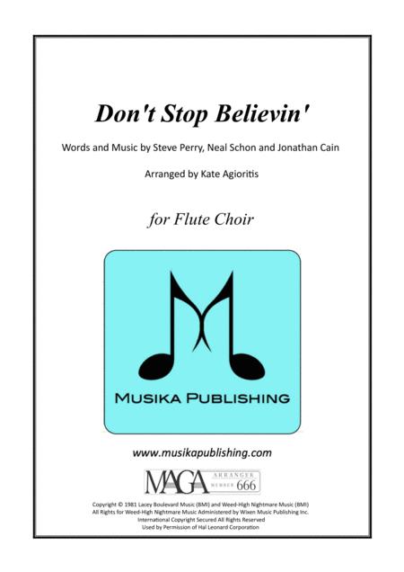 Don't Stop Believin' - for Flute Choir