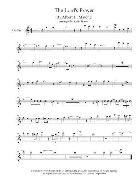 The Lord's Prayer - Alto Sax
