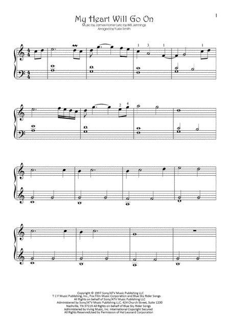 My Heart Will Go On (Love Theme from Titanic) - piano solo
