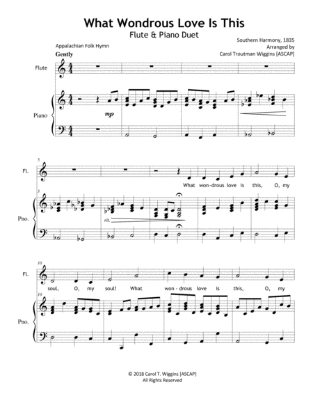 What Wondrous Love Is This (Flute & Piano)