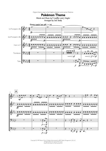 Pokémon Theme for Brass Quintet