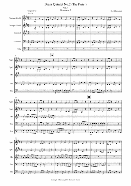 Brass Quintet No.2 (The Party!) Movement 2