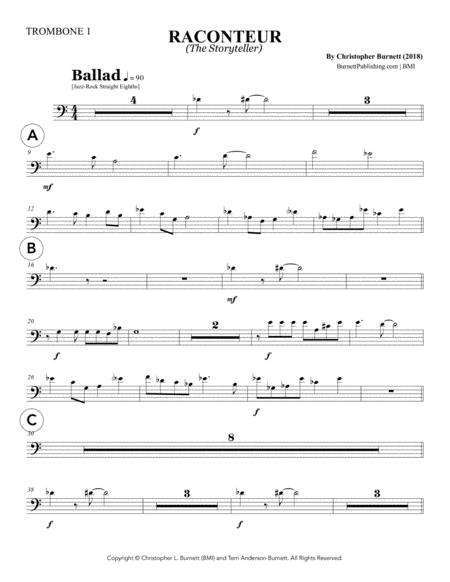 RACONTEUR (The Storyteller) - Trombone 1
