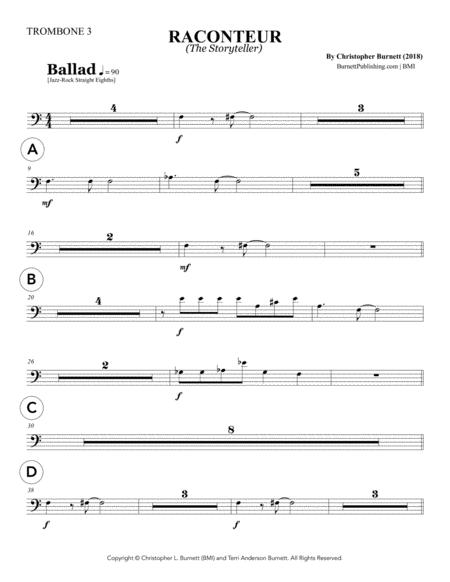 RACONTEUR (The Storyteller) - Trombone 3