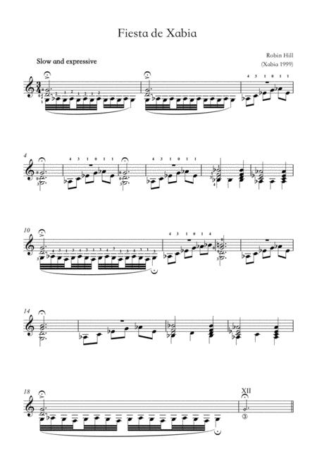 Fiesta de Xabia (guitar solo)